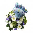 Boy birth bouquet